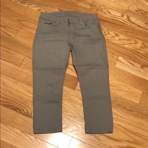 Gray colored size 4 EUC Michael Kors capris